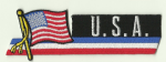 USA Embroidered Flag Patch, style 01.